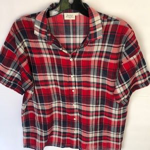 Hartford Red Checked Button Down Shirt